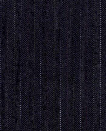 Navy Herringbone - End of the Roll-2598