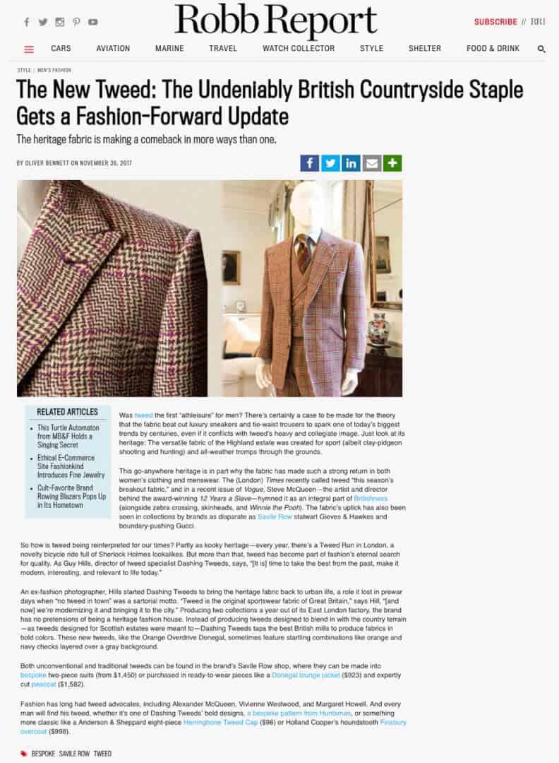 tweed, menswear, robb report,