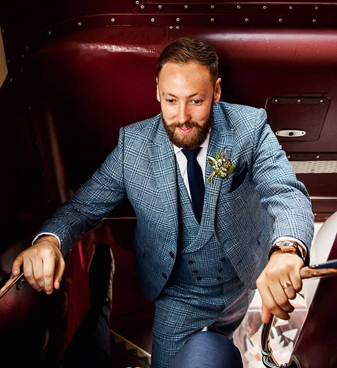 wedding, tweed wedding, dashing groom