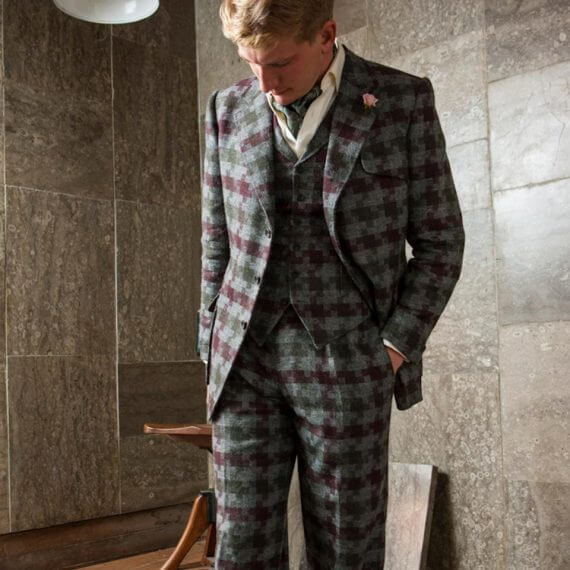made to measure, 3 piece suit, tailoring, tweed
