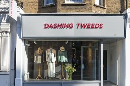 dashing tweeds, press, drapers magazine, drapers, press coverage, 47 Dorset street, Dorset street, Marylebone, British tailors, British tailoring, menswear, made to measure
